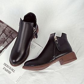 IELGY Martin boots women's shoes British style Korean version of the wild fashion thick short boots