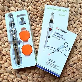 Bút massage pen dò huyệt châm cứu hỗ trợ trị liệu xung điện DF - 618 sử dụng pin AA nhỏ gọn tiện lợi