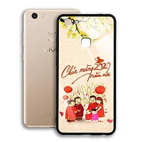 Ốp Lưng Kính Cường Lực cho điện thoại Vivo V7 - 03030 7982 HPNY 24 - Tết đoàn viên - Hàng Chính Hãng