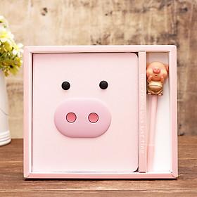 Set sổ tay lợn hồng