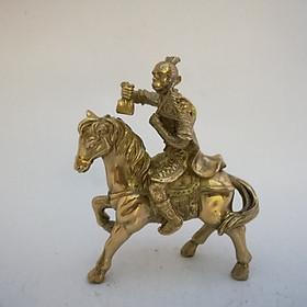 Mã Thượng Phong Hầu 14cm đồng vàng