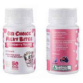 Sữa Viên Ăn Liền Ozi Choice Hộp 50 Viên (vị Dâu) -Bổ Sung Canxi, Vitamin -Nhập Khẩu Nguyên Hộp Từ Úc