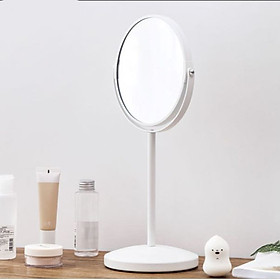 Jia Yi simple large round double sided mirror dormitory desktop princess mirror student desktop makeup mirror 360 ° rotating girl heart makeup mirror wedding HD zoom