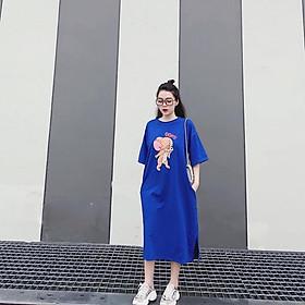 Đầm bầu suông cotton mềm mát mùa hè