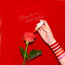 Son Dưỡng Lâu Trôi (màu Patty Red) No 12_Javin De Seoul Flower For Me Velvet Lipstick #12 (Party Red)-3