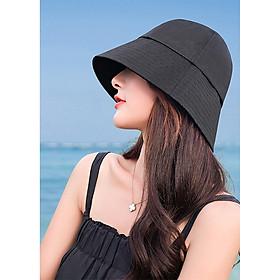 Nón Bucket Sụp Vành Ngắn Mũ Bucket Cụp Idol NK486, Nón Bucket Trơn Thời Trang Dành Cho Cả Nam Và Nữ Màu Đen