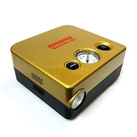 Bơm lốp ô tô dự phòng Toyota Accessories có đèn nguồn 12V tẩu điện xe ô tô (Vàng)