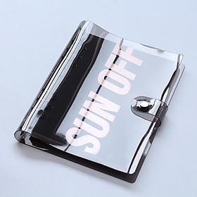 Bìa sổ còng nhựa dẻo 2 lớp Black 6 lỗ cỡ A5