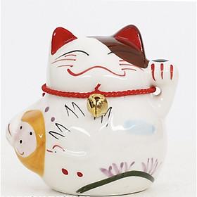 Tượng trang trí gốm sứ Mèo thần tài (Chọn hình)