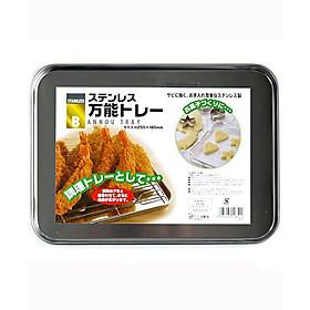 Khay inox chứa đồ nhà bếp Inomata nội địa Nhật Bản