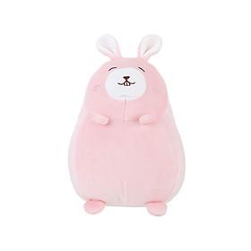 Thỏ nhồi bông Miniso đáng yêu vô đối Round Rabbit Plush Toy 15x18x23cm (Hồng) - Hàng chính hãng