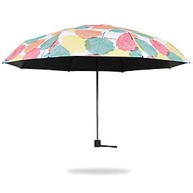 C'mon leaves five fold umbrella sun umbrella female sunscreen UV umbrella umbrella umbrella black plastic umbrella folding ultra light 8 bone five fold umbrella