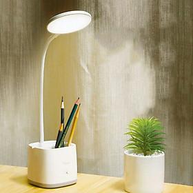 Đèn bàn học LED chống cận có hộc đựng bút - Hiệu Con én - 3 chế độ sáng, nút bấm cảm ứng siêu nhạy