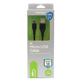 Dây Cáp Sạc Micro USB Pisen Braided 1.2m Chống Gãy- Hàng Chính Hãng