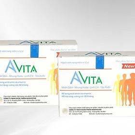 Combo 02 hộp Thực phẩm chức năng Đạm Bổ Tăng Cân Cho Người Gầy Avita, nâng cao thể trạng, tăng cường sức Đề kháng, dùng cho người gầy kém ăn, Trẻ em đang trong giai đoạn phát triển (60 viên/ hộp)