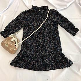 Váy Xuông Bé Gái  Đầm Thu Đông Cà Bông- Thời Trang Trẻ Em Hàng Thiết Kế Cao Cấp Từ 1 Tuổi Đến 8 Tuổi