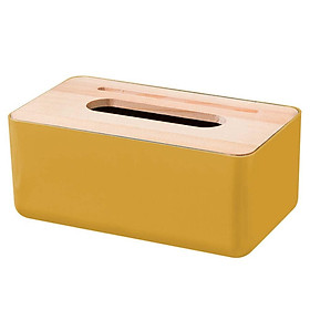 Tissue Box Paper Towel Case Holder Home Table Decor Living Room Organizer