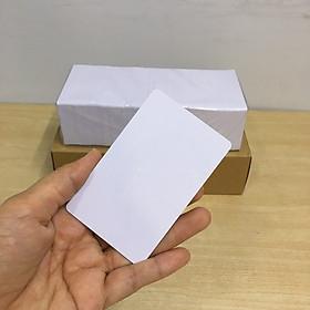Thẻ Nhựa PVC Trắng Bóng