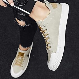 Giày Sneaker Nam Chất Liệu Simili Cổ Thấp Thêu Hình Ngựa Phong Cách Trẻ Trung Đơn Giản