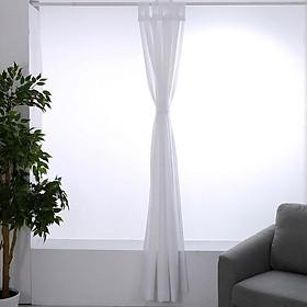 Rèm cửa trang trí chống nắng chống gió đa năng CasaBella - màu trắng 132x213cm