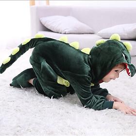 Bộ áo liền quần hình khủng long cho bé 3 -12 tuổi (không kèm theo bàn chân)