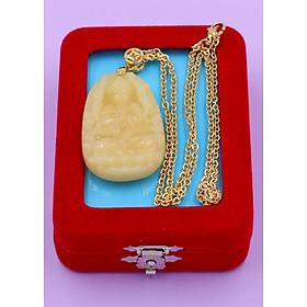Hình đại diện sản phẩm Vòng cổ phật Thiên Thủ Thiên Nhãn - thạch anh vàng 4.3cm DIVTVO8 - dây inox - kèm hộp nhung - tuổi Tý