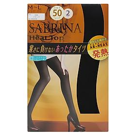 Hộp 2 Quần Tất Siêu Ấm Sabrina Gunze SB650M 50D - Đen