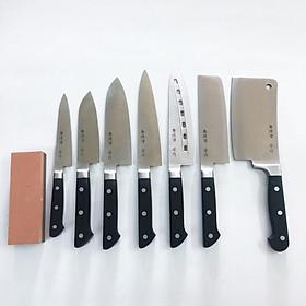 Bộ 7 Dao nhà Bếp cao cấp đủ chức năng Tiêu chuẩn Nhật Bản + Đá mài dao hàng nhập khẩu