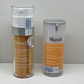 Serum làm trắng da thế hệ mới Murad Vita-C Glycolic Brightening Serum TẶNG Kem giảm thâm quầng mắt thế hệ mới Murad Vita-C Eyes Dark Circle Corrector (15ml)