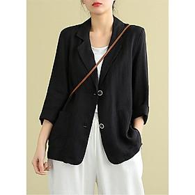 Áo vest Linen dáng lửng, chất liệu vải linen tự nhiên, thời trang phong cách Nhật Bản