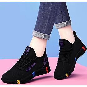 Giày sneaker nữ thời trang mới nhất buộc dây siêu nhẹ V245