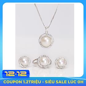 Bộ trang sức Ngọc Trai Thiên Nhiên T4 Bảo Ngọc Jewelry  (Freesize)