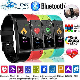 Color Screen Bluetooth Smart Band Blood Pressure Heart Rate Monitor Smart Bracelet with Pedometer Fitness Tracker Waterproof Sport Smart Wristband Watch