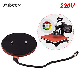 Aibecy 15.5cm/6.1in Heat Press Plate Pad Sublimation Transfer Silicone Heating Pad Mat for Heat Press Machine