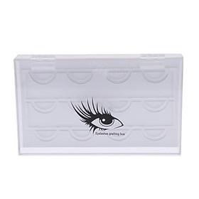 6 Pairs Acrylic False Eyelash Storage Case Display Box Eyelash Holder Stand