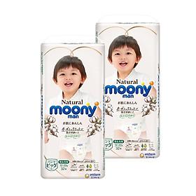 COMBO 2 Tã/Bỉm quần Moony Natural size XL32 miếng (12-22kg)