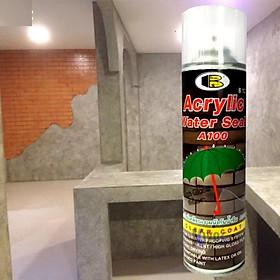 Xịt chống thấm có màn film - Acrylic water seal spray A100, 500cc- Bosny B127 - Nhập khẩu Thái Lan