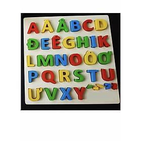 Bảng chữ cái tiếng việt gỗ nổi cao cấp Gnu164