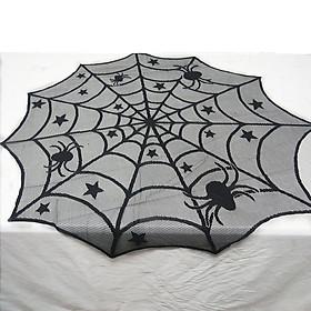 Halloween Decoration Spider Web Tablecloths Lace Spider Web Round Tablecloths