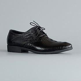 Giày tây nam công sở cao cấp da bò thật vân cá sấu lịch lãm chính hãng Fu Khang CX100D