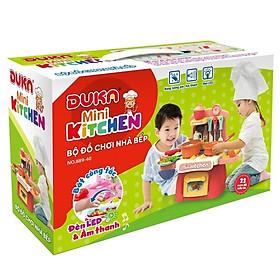 Bộ đồ chơi nhà bếp màu nâu kết hợp ánh sáng và âm thanh 889-174