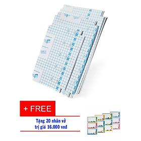 Set 20 tờ Decan bọc sách vở học sinh, sinh viên rất tiện dụng +Tặng kèm  Túi 20 nhãn vở  dán đính kèm  trị giá  16.000đ  .