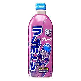 3 Chai Nước Soda Nho Ramune Sangaria Nhật Bản (500ml x 3)