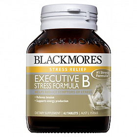 Viên Uống Giảm Stress Blackmores Executive B Stress Formula - 62 viên (Hàng Nhập Khẩu Từ Úc)(Random new and old versions)