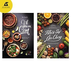 Sách - Combo Về nhà ăn cơm và Khởi sự ăn chay