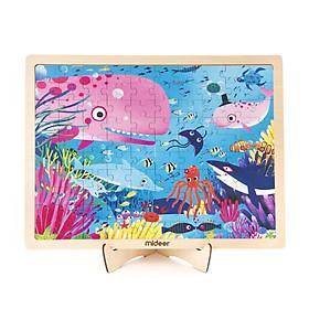 Mideer Puzzle Secret Ocean Bộ xếp hình gỗ 100 miếng chủ đề Bí Mật Đại Dương