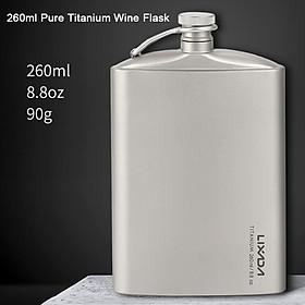 Bình đựng đồ uống có cồn chống tràn bằng titan dung tích 260ml cho dã ngoại ngoài trời