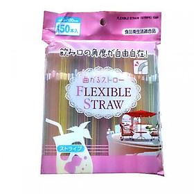 Ống Hút Nhựa Có Nút Không Mùi Nhật Bản (150 Cái)