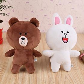 Hình đại diện sản phẩm Gấu bông cặp thỏ cony và gấu brown (20 cm) gb12