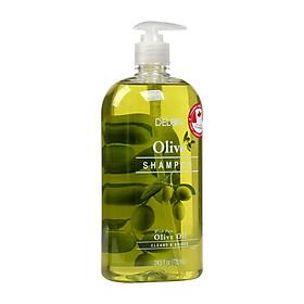 Dầu Gội DELON dưỡng mượt tóc với tinh dầu Olive dung tích 725ml - Shampoo Olive DELON 725ml